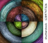 abstract grunge circles... | Shutterstock . vector #1289747326