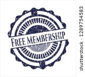 Blue Free Membership Distresse...
