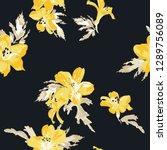 seamless tropical flower... | Shutterstock .eps vector #1289756089