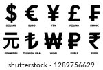 Most used currency symbols.