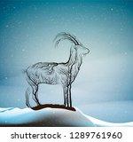 wild goat extinction concept ...   Shutterstock .eps vector #1289761960