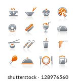 food icons   2    graphite... | Shutterstock .eps vector #128976560