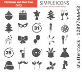 party simple icons set for web... | Shutterstock .eps vector #1289766643
