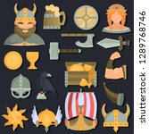 viking culture color flat icons ... | Shutterstock .eps vector #1289768746