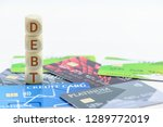 credit card debt   unsecured... | Shutterstock . vector #1289772019