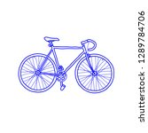 bicycle fixed gear doodle icon | Shutterstock .eps vector #1289784706
