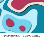 3d abstract background with... | Shutterstock . vector #1289788069