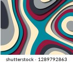 3d abstract background with... | Shutterstock . vector #1289792863