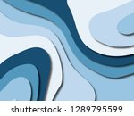 3d abstract background with... | Shutterstock . vector #1289795599