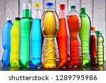 plastic bottles of assorted... | Shutterstock . vector #1289795986