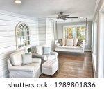 lake house sun room | Shutterstock . vector #1289801836