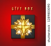 realistic black gift box with... | Shutterstock .eps vector #1289803090