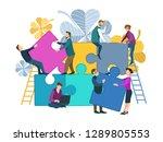business concept of solving...   Shutterstock .eps vector #1289805553