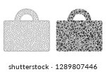 mesh vector baggage with flat... | Shutterstock .eps vector #1289807446