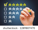satisfied customer putting...   Shutterstock . vector #1289807470