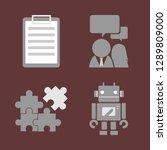 business icon set.   Shutterstock .eps vector #1289809000