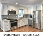 Stock photo lake house kitchen 1289815666