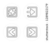 4 line loading arrows  backward ... | Shutterstock .eps vector #1289822179