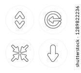 4 line expand  minimize  insert ... | Shutterstock .eps vector #1289822236
