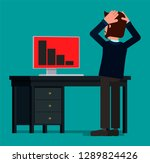 a businessman panics at the...   Shutterstock .eps vector #1289824426