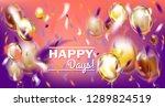 disco party violet vector image ... | Shutterstock .eps vector #1289824519