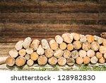 Close Up Of A Firewood Heap  ...