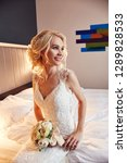 morning bride. a woman in a...   Shutterstock . vector #1289828533