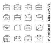 set of briefcase related vector ... | Shutterstock .eps vector #1289829706