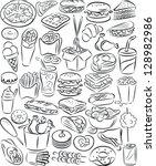 vector illustration of fast... | Shutterstock .eps vector #128982986