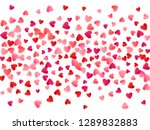 ruby red flying hearts bright... | Shutterstock .eps vector #1289832883