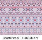 navajo american indian pattern... | Shutterstock .eps vector #1289833579