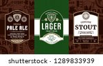 vector vintage beer labels and... | Shutterstock .eps vector #1289833939