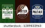 vector vintage beer labels and... | Shutterstock .eps vector #1289833963