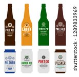 beer labels  bottle and can... | Shutterstock .eps vector #1289833969