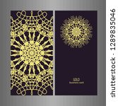 line art business card for...   Shutterstock .eps vector #1289835046