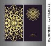 line art business card for...   Shutterstock .eps vector #1289835136