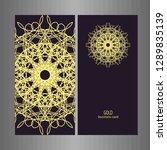 line art business card for...   Shutterstock .eps vector #1289835139