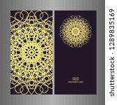 line art business card for...   Shutterstock .eps vector #1289835169
