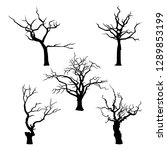 collection of trees silhouettes ...   Shutterstock . vector #1289853199