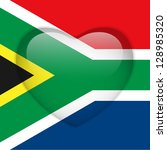 vector   south africa flag... | Shutterstock .eps vector #128985320