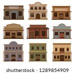 flat vector set of western...   Shutterstock .eps vector #1289854909