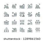 farming landscape line icons.... | Shutterstock .eps vector #1289861560