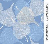high detail skeleton leaf... | Shutterstock .eps vector #1289863393