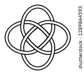 celtic knot symbol of eternity...   Shutterstock .eps vector #1289864593