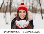 young pretty smiling happy...   Shutterstock . vector #1289866603