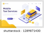 Landing Page With Car Or Cab O...