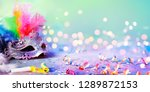 carnival mask with defocused... | Shutterstock . vector #1289872153