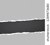 ripped squared grey paper for... | Shutterstock .eps vector #1289873680