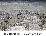 concrete foundation... | Shutterstock . vector #1289874619