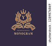 monogram design elements ... | Shutterstock .eps vector #1289876869